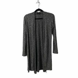 U2B Grey & Black Long Open Cardigan Size Large